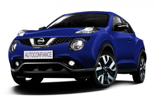 nissan nouveau juke 4x2 tekna 1 6 l xtronic 117 cv bleu indigo. Black Bedroom Furniture Sets. Home Design Ideas
